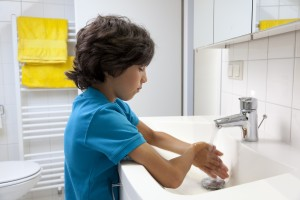Hand washing is a common compulsion in kids with OCD